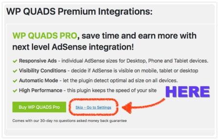 Quick AdSense Reloadedの設定方法