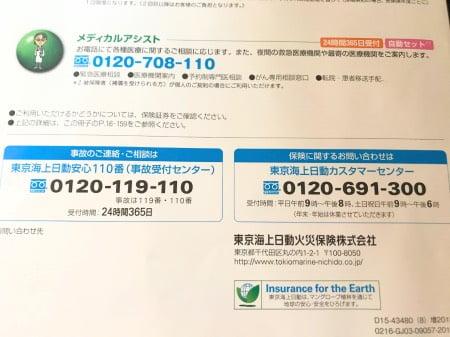 東京海上日動火災保険の電話番号